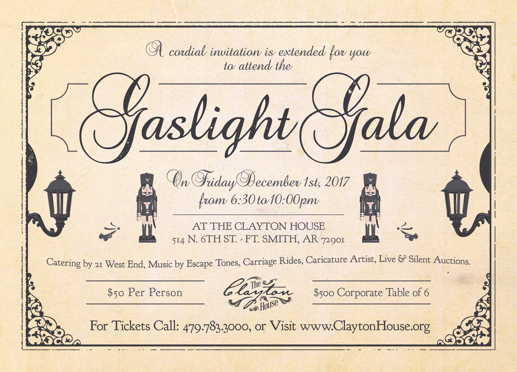 Clayton House Gaslight Gala 2017 - Things To Do in Fort Smith